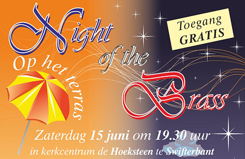 Night of the Brass met brassband Amor Musae op 15 juni